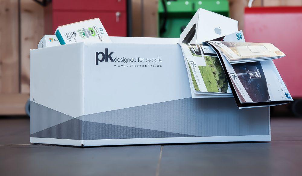 versandkarton von pk